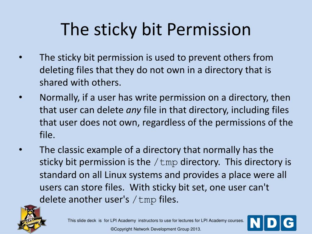 PPT - Module 16 Special Permissions, Links and File