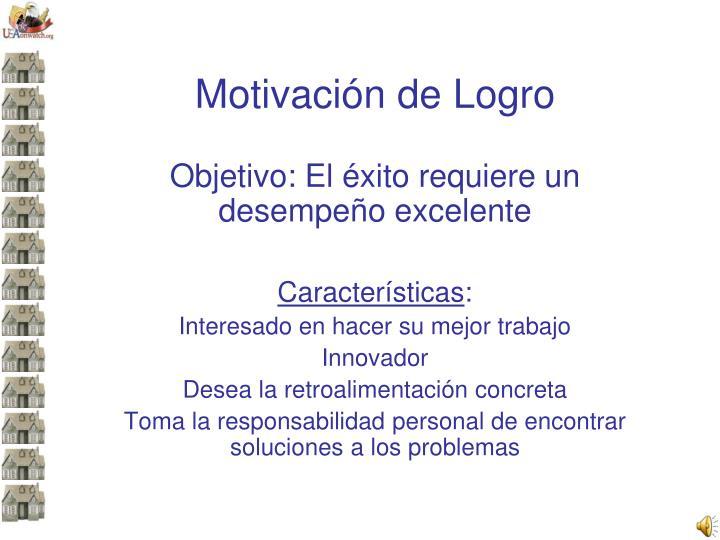 Motivación de Logro