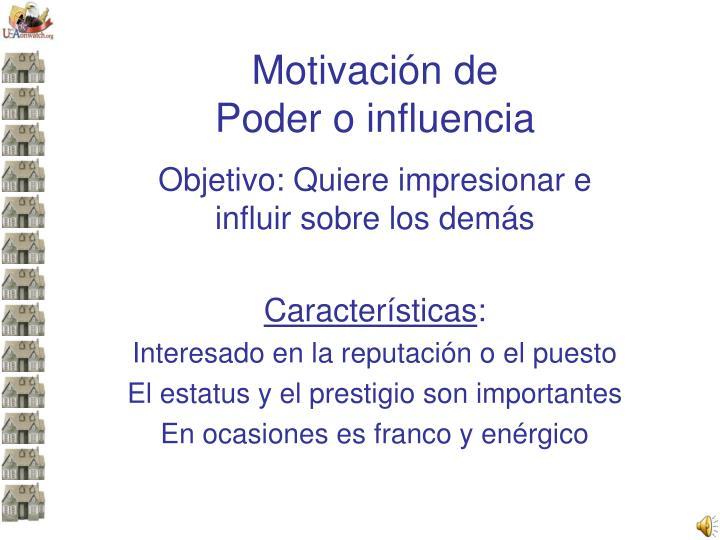 Motivación de
