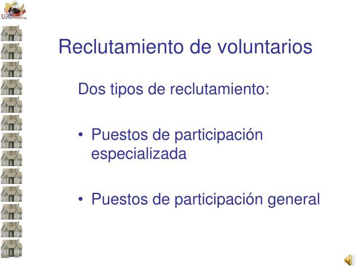 Reclutamiento de voluntarios