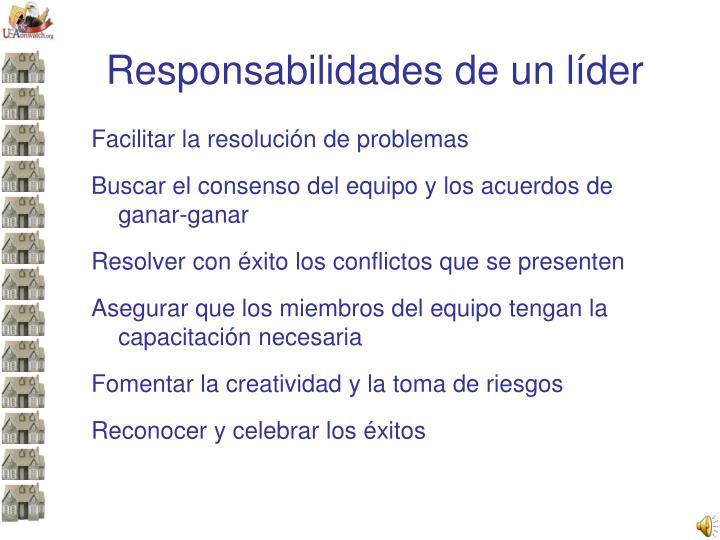 Responsabilidades de un líder