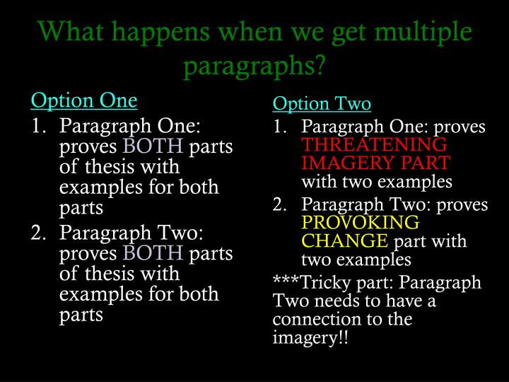 5 part thesis Thesis statements, outlines, and five-paragraph essay outlines, and five-paragraph themes part of an informal outline on the television topic could look.