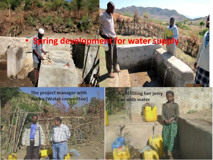 Spring development for water supply