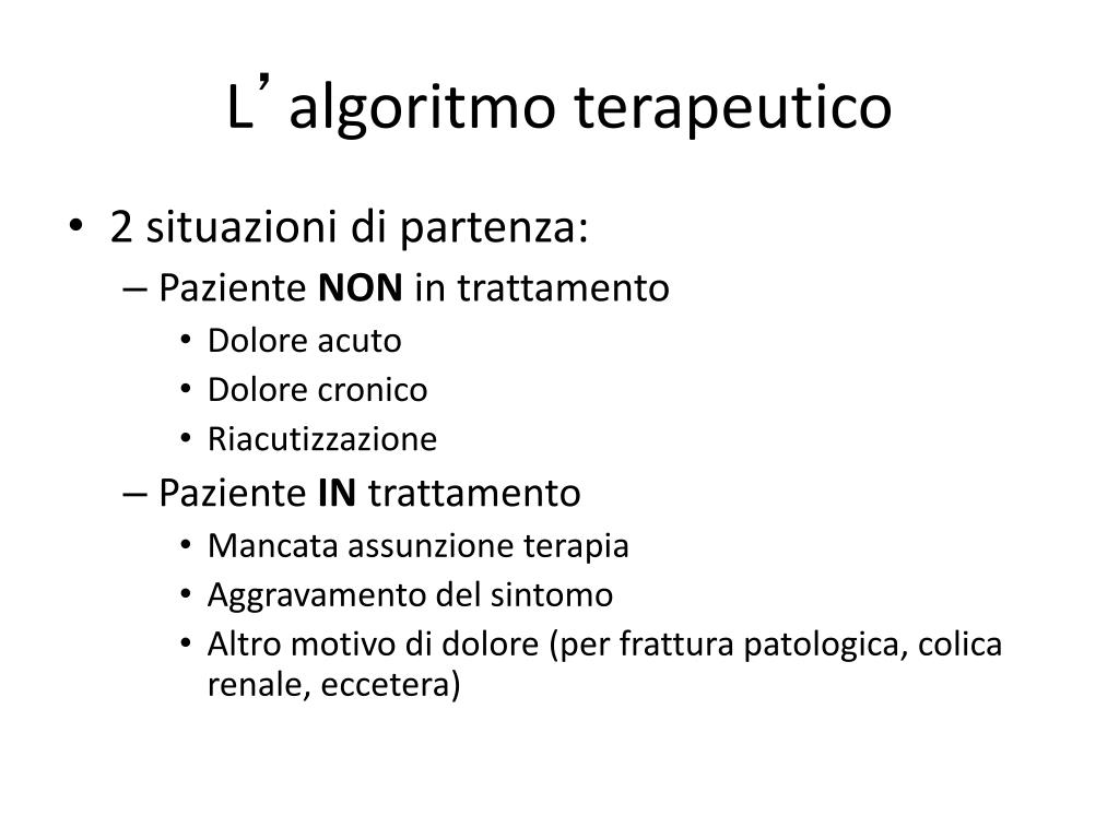 LINEE GUIDA E MANAGEMENT CLINICO DEL DOLORE: ALGORITMI DIAGNOSTICO TERAPEUTICI