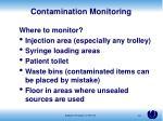 contamination monitoring1