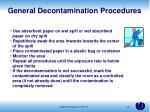 general decontamination procedures