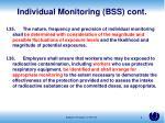 individual monitoring bss cont