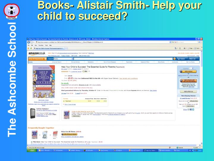 Books- Alistair Smith- Help your child to succeed?