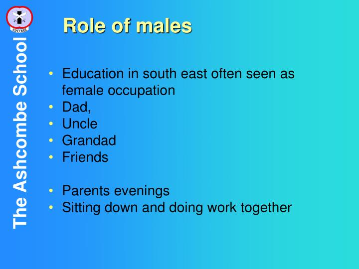 Role of males