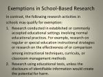 exemptions in school based research1