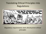 translating ethical principles into regulations