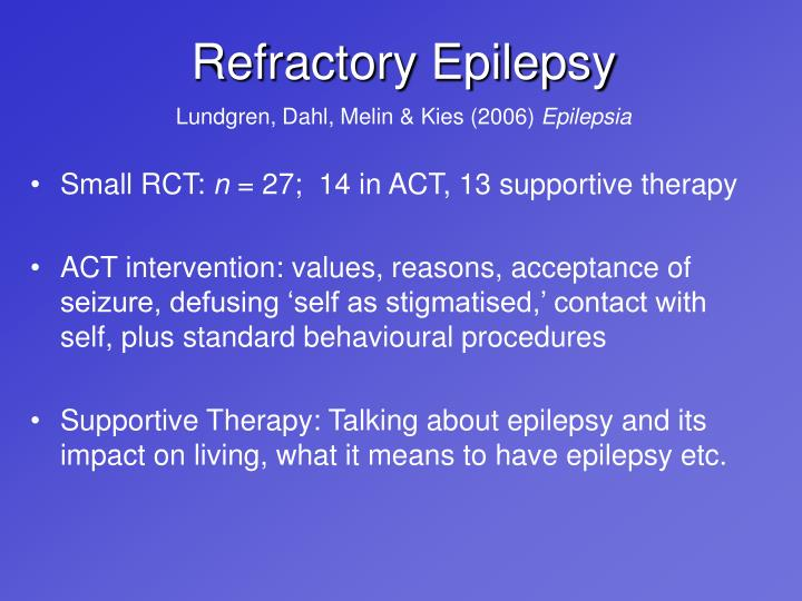 Refractory Epilepsy