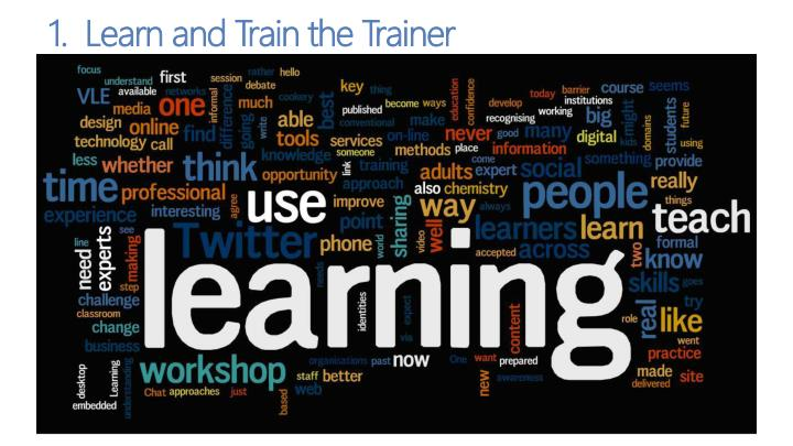 1.  Learn and Train the Trainer