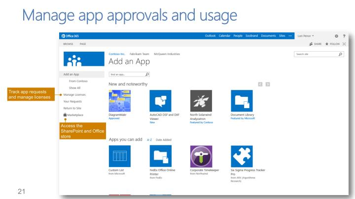 Manage app approvals and usage