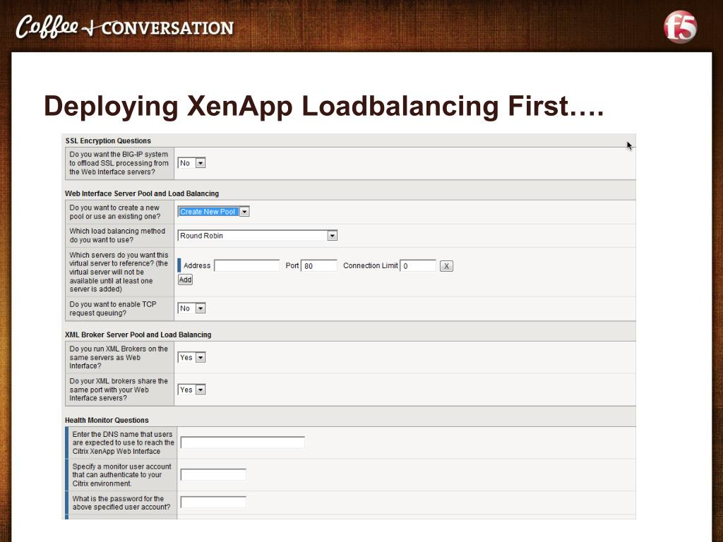 PPT - Deploying XenApp and XenDesktop with BIG-IP Michael Koyfman