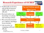 research experiences of ochep
