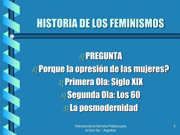 Historia de los feminismos