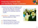 analyzing customer data and identifying target customers
