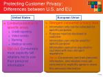 protecting customer privacy differences between u s and eu