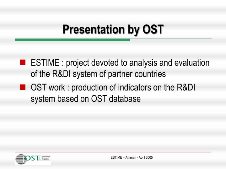 Presentation by ost1