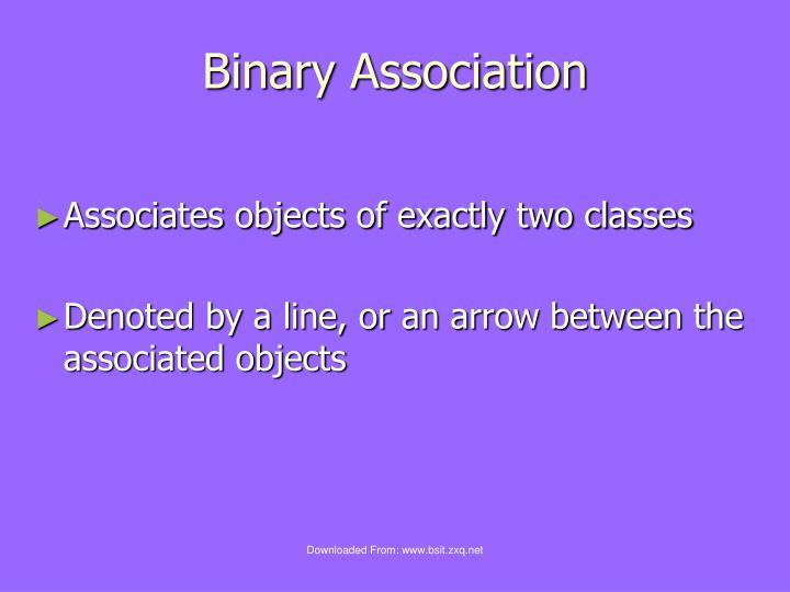 Binary Association
