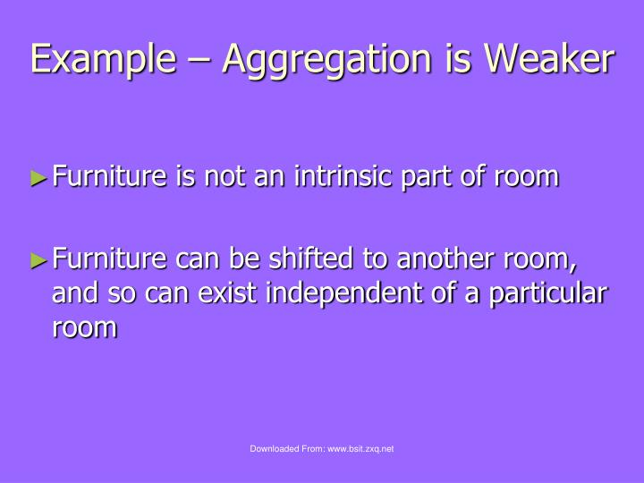 Example – Aggregation is Weaker