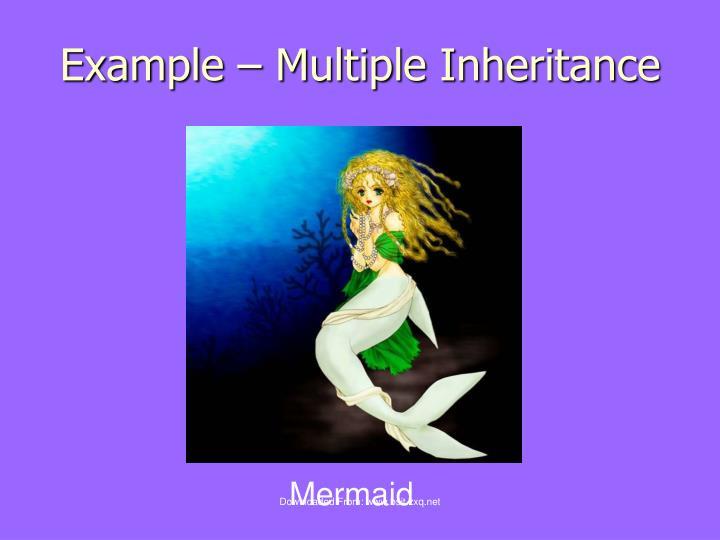 Example multiple inheritance