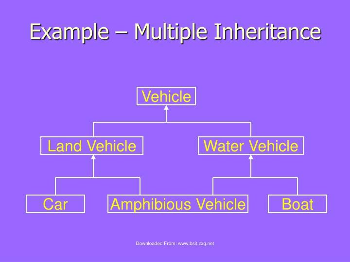 Example – Multiple Inheritance