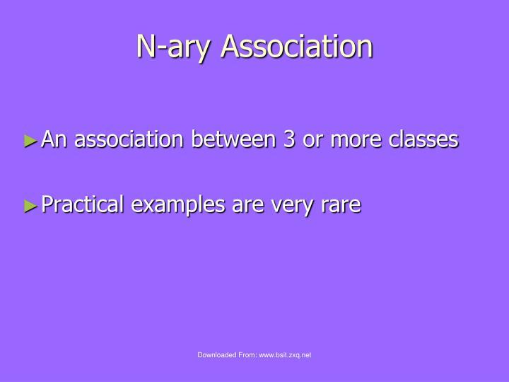 N-ary Association