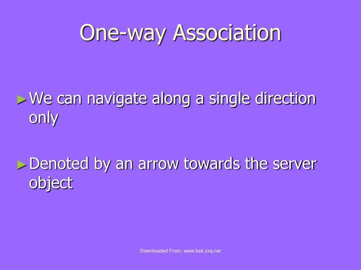 One-way Association