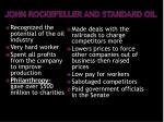 john rockefeller and standard oil