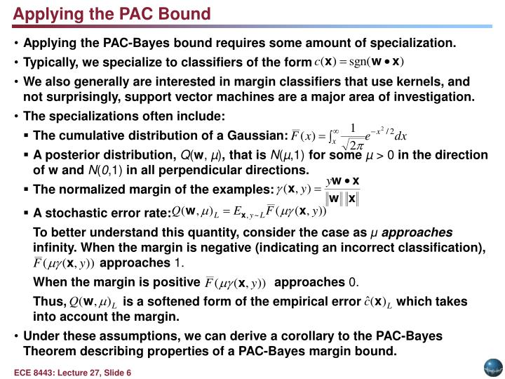 Applying the PAC Bound