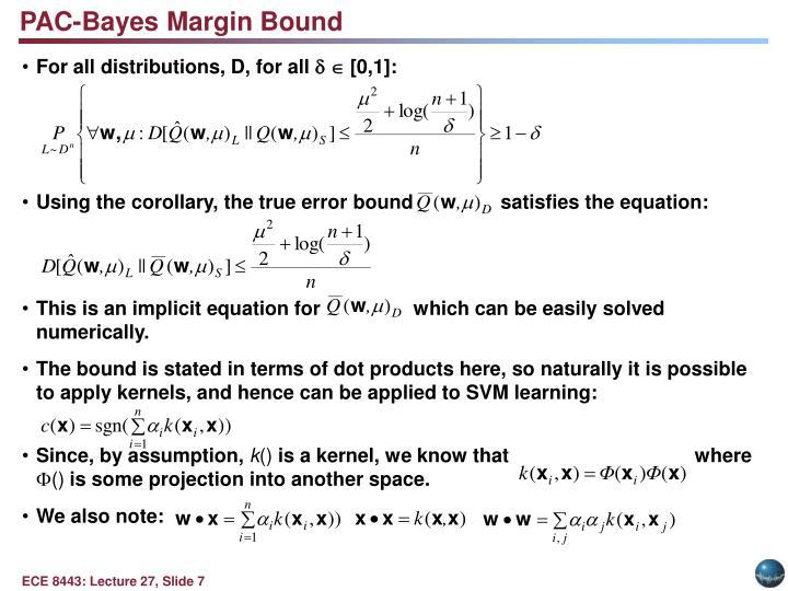 PAC-Bayes Margin Bound