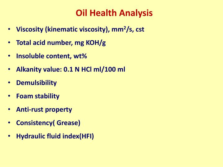Oil Health Analysis