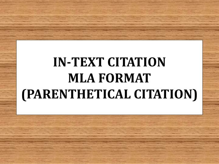 how to cite mla format in text
