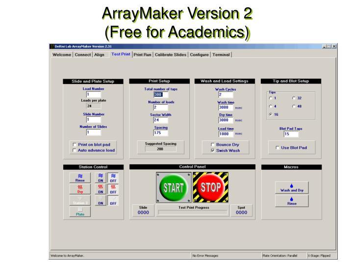 ArrayMaker Version 2