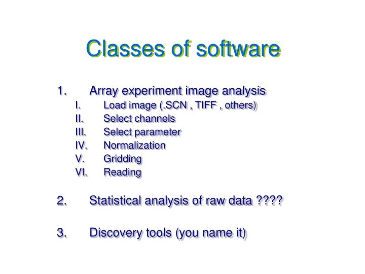 Classes of software