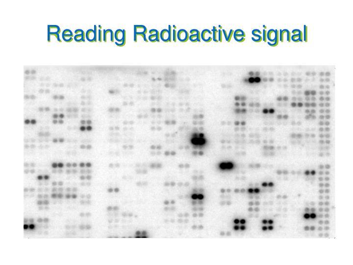 Reading Radioactive signal