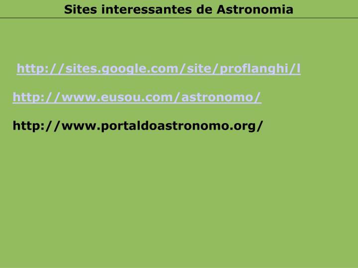 Sites interessantes de Astronomia