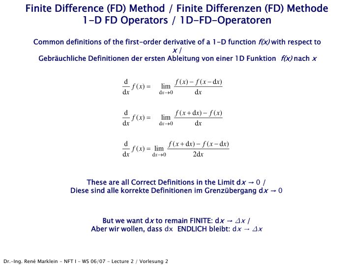Finite Difference (FD) Method