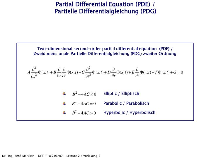 Partial differential equation pde partielle differentialgleichung pdg