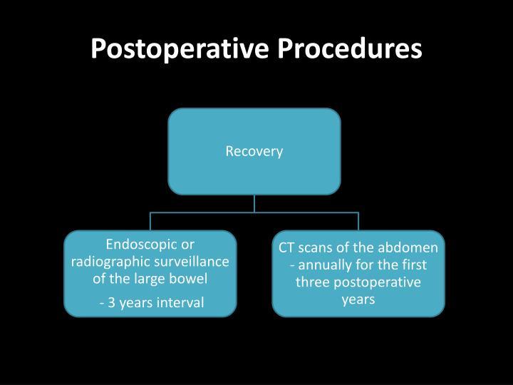 Postoperative Procedures