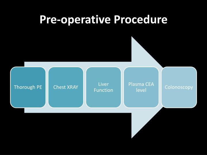 Pre operative procedure