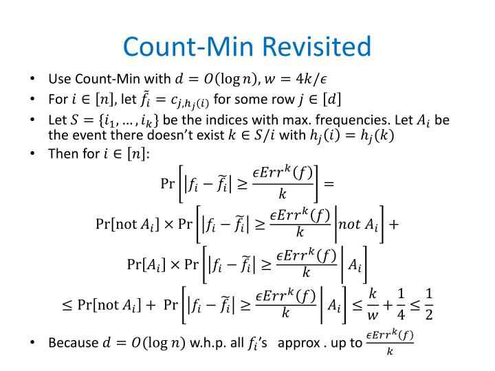 Count-Min Revisited