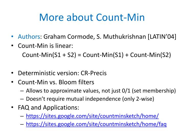 More about Count-Min