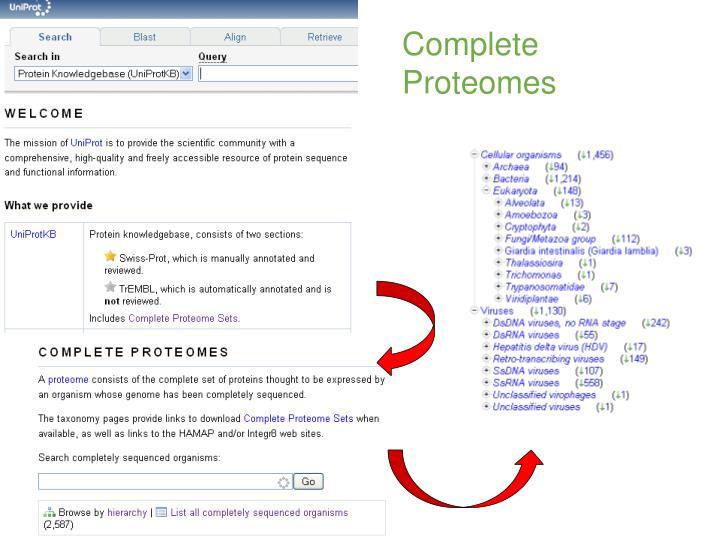 Complete Proteomes