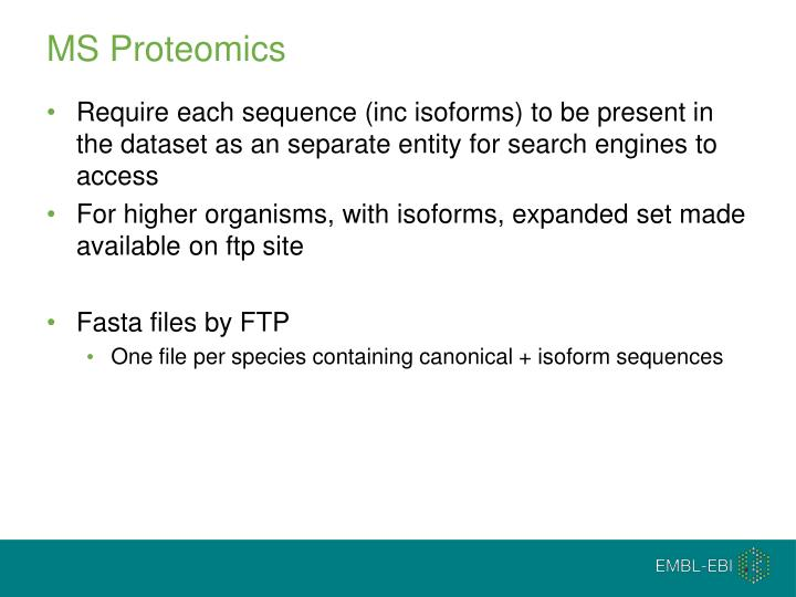 MS Proteomics