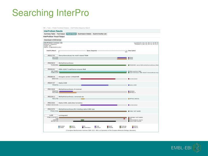 Searching InterPro