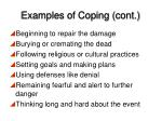 examples of coping cont