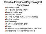 possible emotional psychological symptoms
